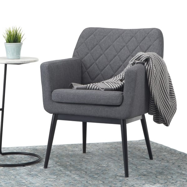 Astonishing Shop Carson Carrington Saltea Quilted Back Accent Chair Gmtry Best Dining Table And Chair Ideas Images Gmtryco