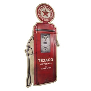 American Art Decor Vintage Texaco Gas Pump Embossed Metal Wall Decor