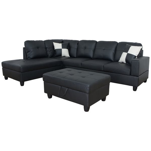 Shop AYCP Furniture L Shape Sectional Sofa with Storage ...