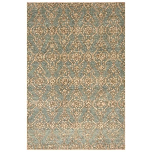 Handmade Vegetable Dye Ikat Wool Rug (Afghanistan) - 6' x 9'