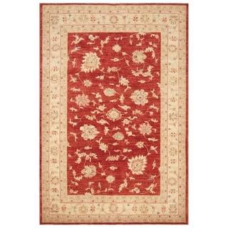 Handmade Vegetable Dye Oushak Wool Rug (Afghanistan) - 5'9 x 8'6