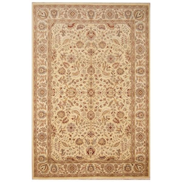 Handmade Vegetable Dye Oushak Wool Rug (Afghanistan) - 6' x 9'1