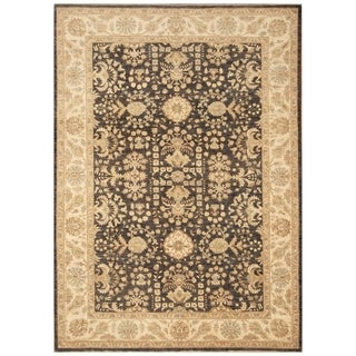 Handmade Vegetable Dye Oushak Wool Rug (Afghanistan) - 6' x 8'7