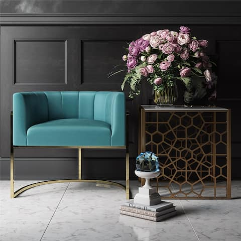 CosmoLiving by Cosmopolitan Rooney Teal Accent Chair