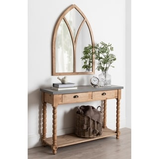 Kate and Laurel Corneil Arch Shape Wall Mirror - Rustic Brown - 29.5x42.5