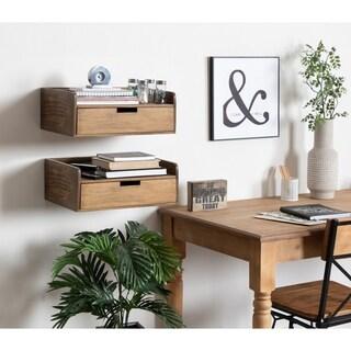 Kate and Laurel Kitt Floating Shelf Side Table - 18x12x6.5