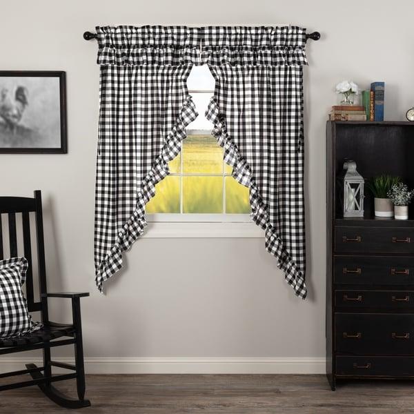 Shop Farmhouse Curtains VHC Annie Buffalo Check Prairie
