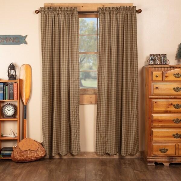 Shop Green Rustic Curtains Vhc Cedar Ridge Panel Pair Rod