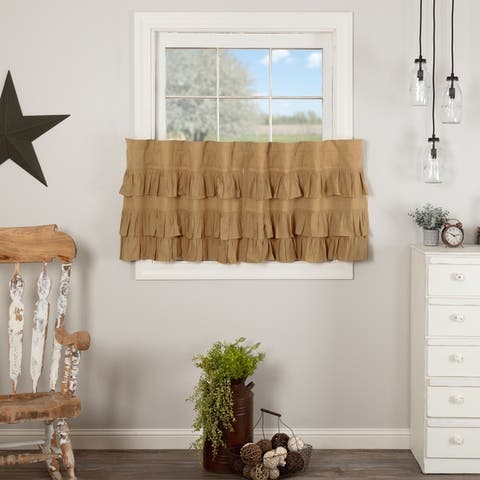 Simple Life Flax Ruffled Tier Set of 2