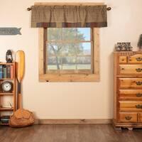 Green Rustic Kitchen Curtains Ridgeline Valance Rod Pocket Cotton Plaid Patchwork