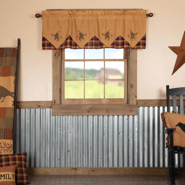Shop Yellow Primitive Kitchen Curtains VHC Heritage Farms ...