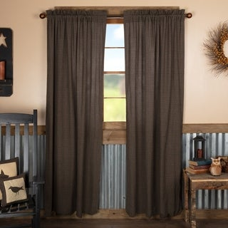 Black Primitive Curtains VHC Kettle Grove Plaid Panel Pair Rod Pocket Cotton - Panel 84x40