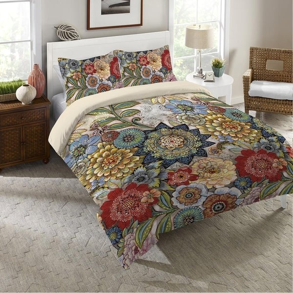 Boho Bouquet Queen Duvet
