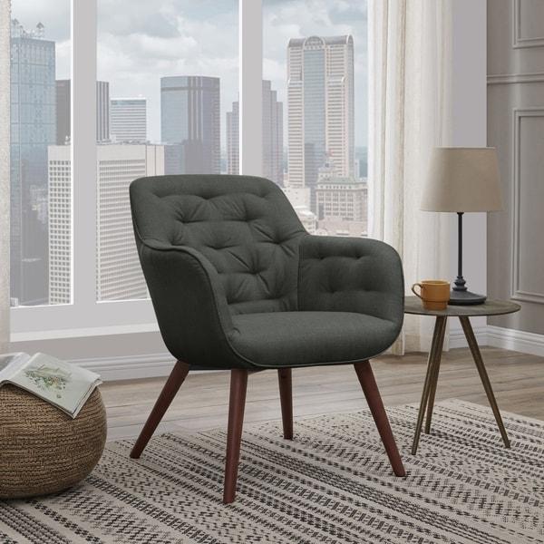 Shop Carson Carrington Klaipoeda Tufted Arm Chair Free