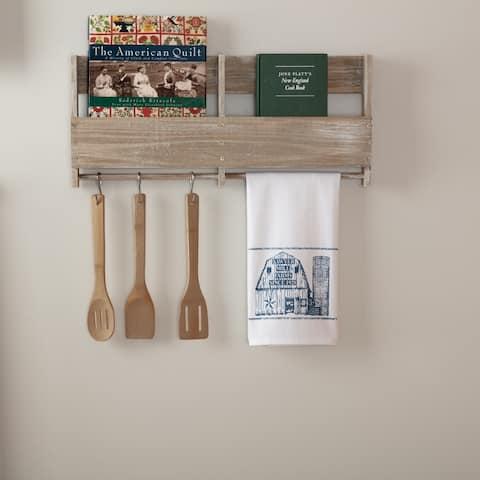 Sawyer Mill Blue Barn Muslin Bleached White Tea Towel 19x28 - Tea Towel 28x19