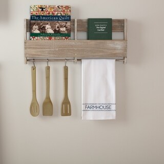 Blue Farmhouse Tabletop Kitchen VHC Sawyer Mill Kitchen Towel Fabric Loop Cotton Text Stenciled Muslin - Tea Towel 28x19
