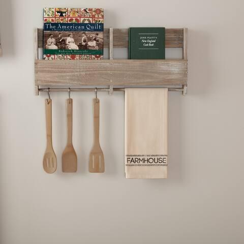 White Farmhouse Tabletop Kitchen VHC Sawyer Mill Kitchen Towel Fabric Loop Cotton Text Stenciled Muslin - Tea Towel 28x19