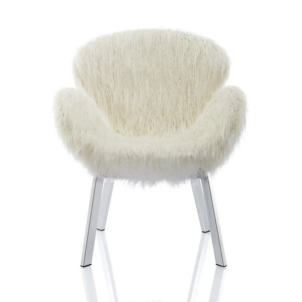 Wondrous Shop Cosmoliving Estelle Accent Chair And Ottoman With Faux Alphanode Cool Chair Designs And Ideas Alphanodeonline