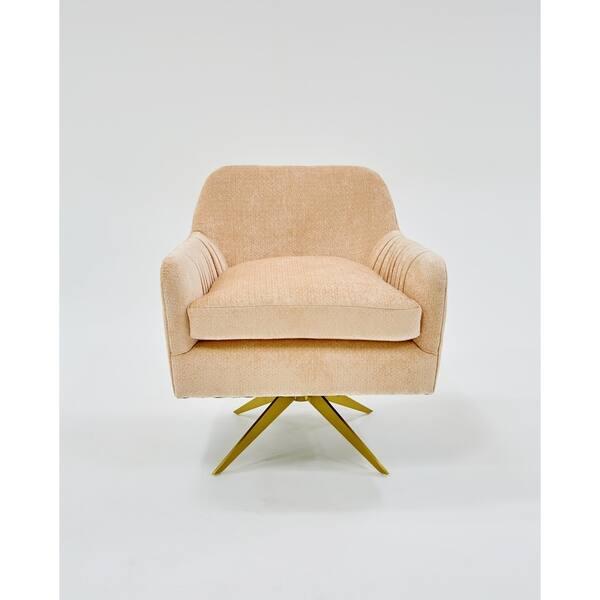 Astounding Divani Casa Abigail Modern Peach Velvet Swivel Accent Chair Creativecarmelina Interior Chair Design Creativecarmelinacom
