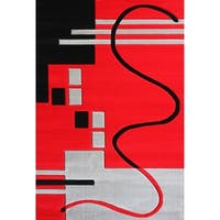 "Contemporary 5x8 Rug Red - 5'4"" x 7'5"""