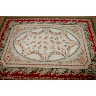 Handknotted Wool Aubusson Rug - 9' x 12'