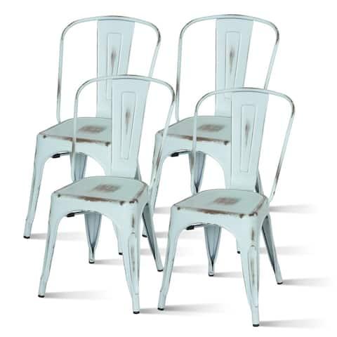 Metropolis Metal Industrial Side Chair (Set of 4) - na
