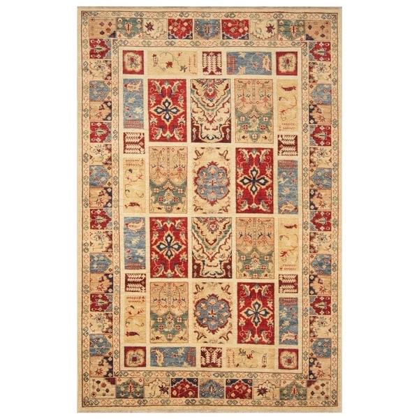 Handmade Super Kazak Wool Rug (Afghanistan) - 5'8 x 8'6
