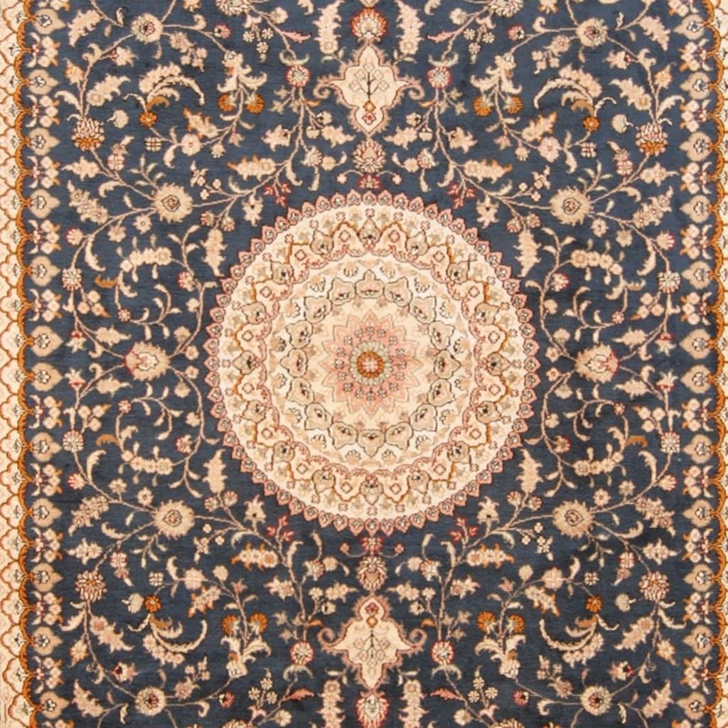 Handmade One Of A Kind Qum Silk Rug