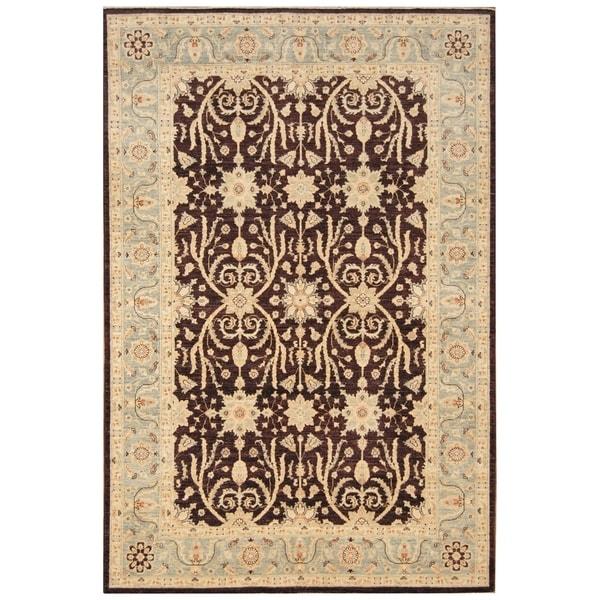 Handmade Vegetable Dye Oushak Wool Rug (Afghanistan) - 5'9 x 8'7