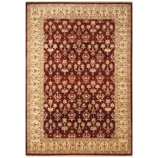 Handmade Vegetable Dye Oushak Wool Rug (Afghanistan) - 6'2 x 8'8