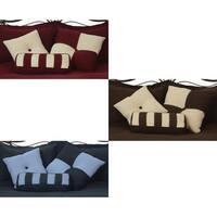 Microfiber Reversible Throw Pillows (Set of 3)