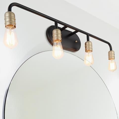 Vanity Art Vintage Bathroom Vanity Light 4-Lights Wall Light Fixtures Indoor Wall Mount Lamp Shade for Bathroom Vanity Mirror