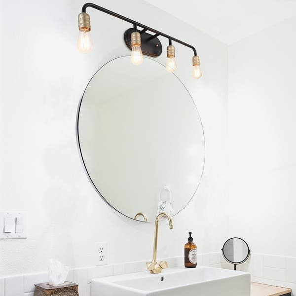Vanity Art Vintage Bathroom Vanity Light 4 Lights Wall Light Fixtures Indoor Wall Mount Lamp Shade For Bathroom Vanity Mirror On Sale Overstock 26060659