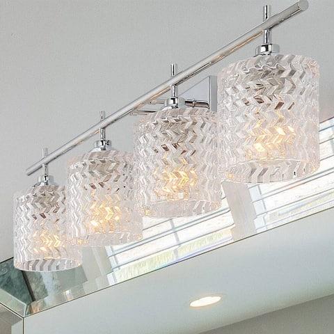 Copper Grove Ales Modern Elegant 4-light Crystal Vanity Light