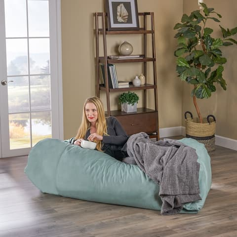 Caspio Indoor Water Resistant 6'x3' Lounger Bean Bag by Christopher Knight Home