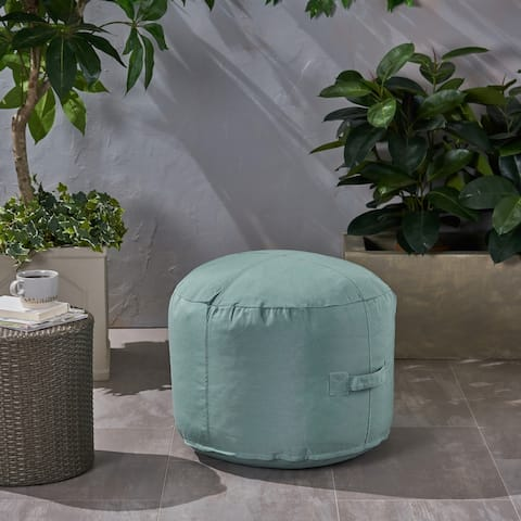 Sandy Cay Outdoor Water Resistant 2' Ottoman Pouf by Christopher Knight Home