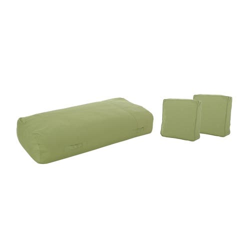 """Carol Outdoor 6'x3' Lounger Bean Bag and 18"""" Throw Pillows Set by Christopher Knight Home"""