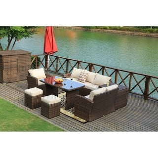 7-pieces Outdoor Patio Sectional Furniture Sofa Sets by Moda Furnishings