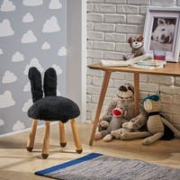 Rose Red's Stoolimals Collection Faux Fur Bunny Stool by Christopher Knight Home