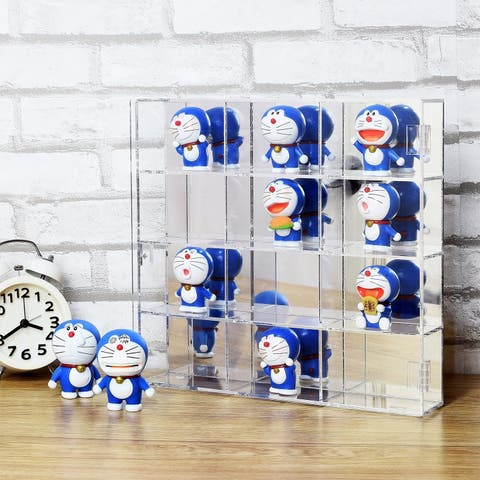 Ikee Design Mountable 12 Compartments Display Case w/ Mirrored Back