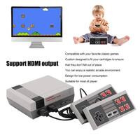 Classic Family Video Console NES Console HDMI Built-in 600 Games Game Player - grey