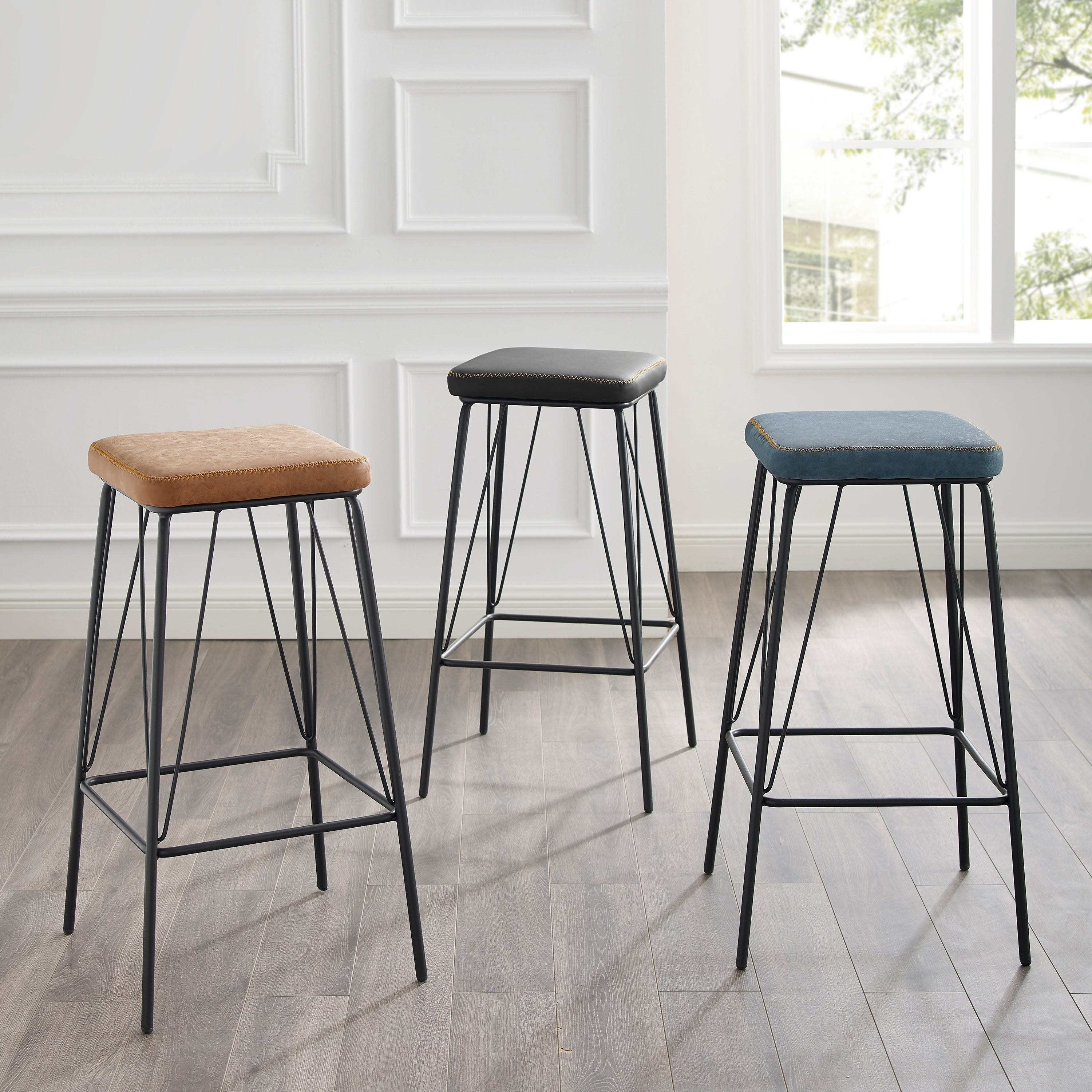 Pleasing Moa 30 Inch Faux Leather Backless Counter Bar Stool By Corvus Set Of 2 Gmtry Best Dining Table And Chair Ideas Images Gmtryco