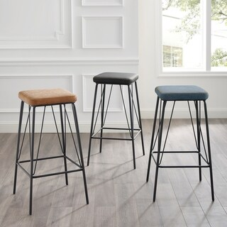 Moa 30-inch Faux Leather Backless Counter Bar Stool by Corvus (Set of 2)