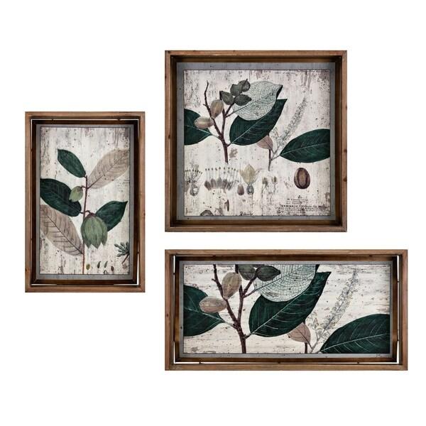Wooden Wall D�cor, Set of Three, Multicolor