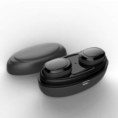 Wireless Bluetooth Earphone Bluetooth 5.0 Stereo Hands-Free Noise Cancelling Headset with Charging Box