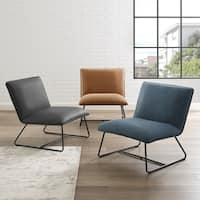 Suez Bonded Leather Lounge Chair by Corvus