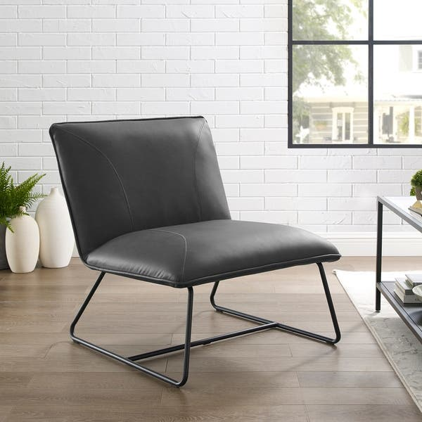 Remarkable Shop Strick Bolton Soloway Bonded Leather Lounge Chair Ibusinesslaw Wood Chair Design Ideas Ibusinesslaworg