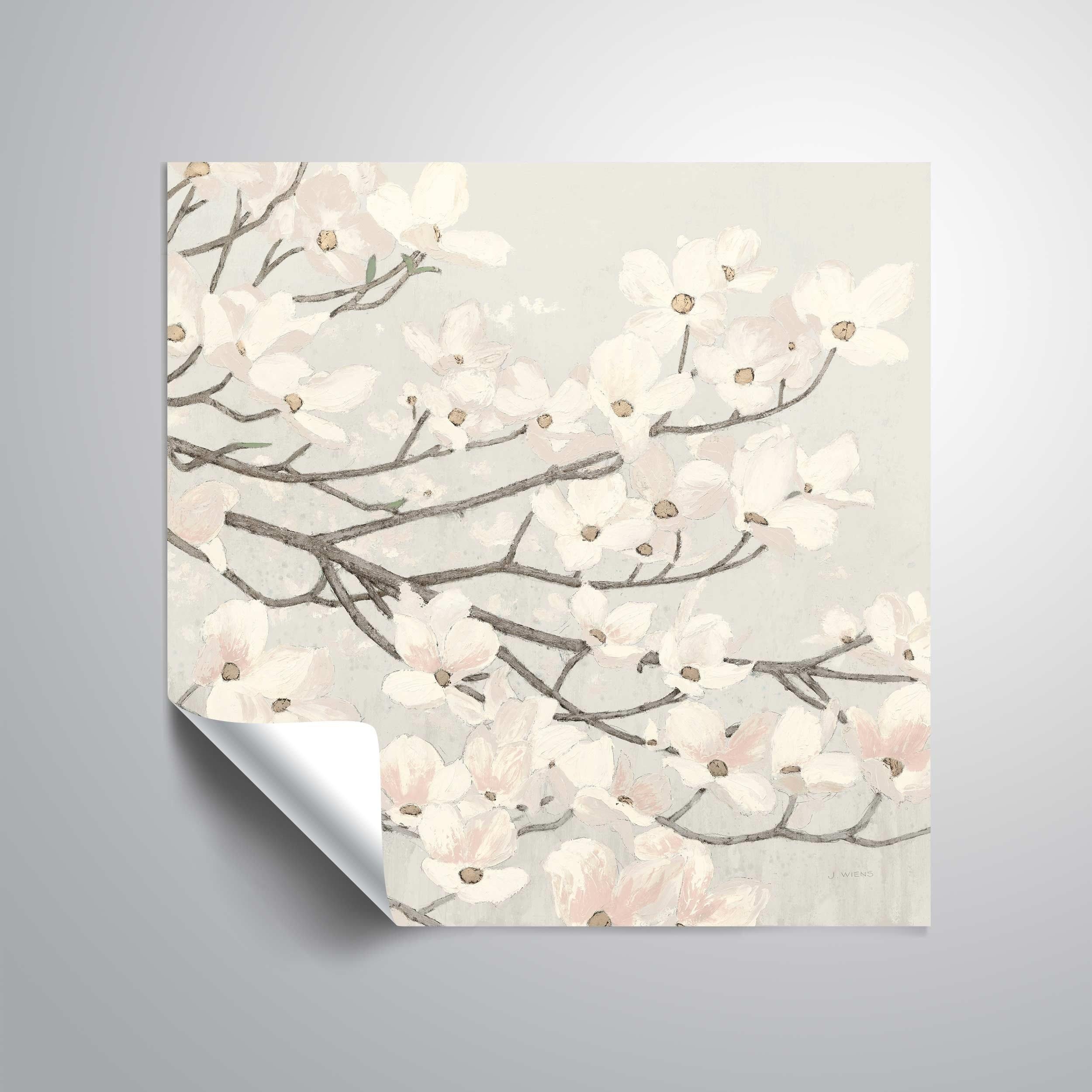 Artwall Dogwood Blossoms Ii Removable Wall Art Mural Overstock 26061297