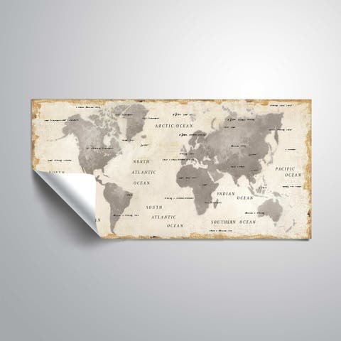 """ArtWall """"Colorful World I Neutral"""" Removable Wall Art Mural"""