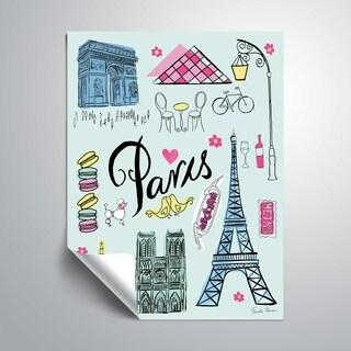 "ArtWall ""Travel Paris"" Removable Wall Art Mural"
